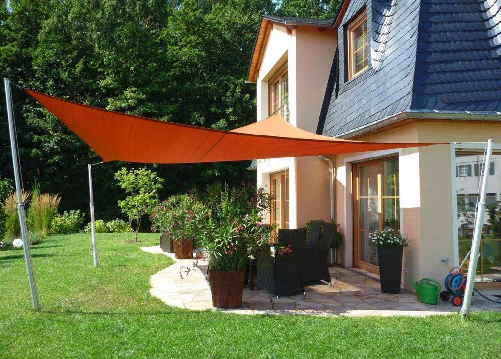 anwendung 2 aluminium teleskopmast fuer sonnensegel auf sonnensegel123. Black Bedroom Furniture Sets. Home Design Ideas
